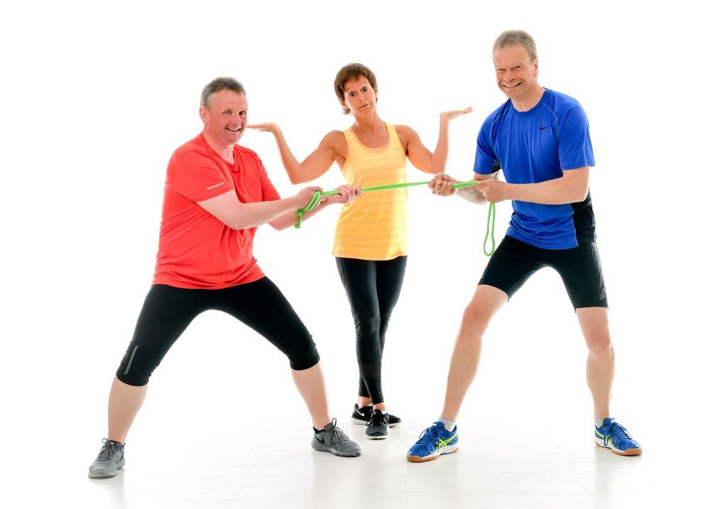 Jörg und Holger fit & fröhlich Sportscheune