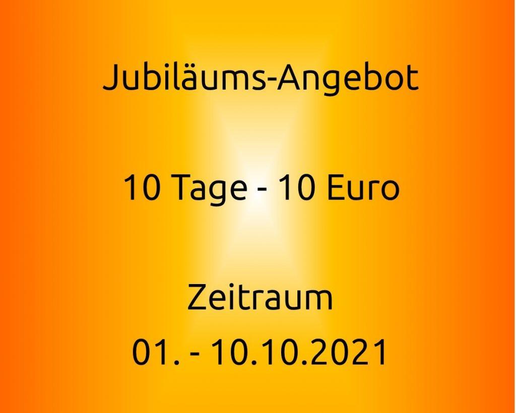 10 Tage 10 Euro